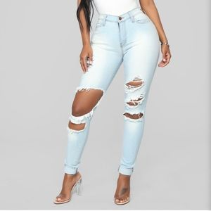 Fashion Nova jeans- Beach Bum light blue